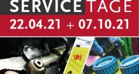 SERVICETAGE am 22.04.21 und 07.10.21