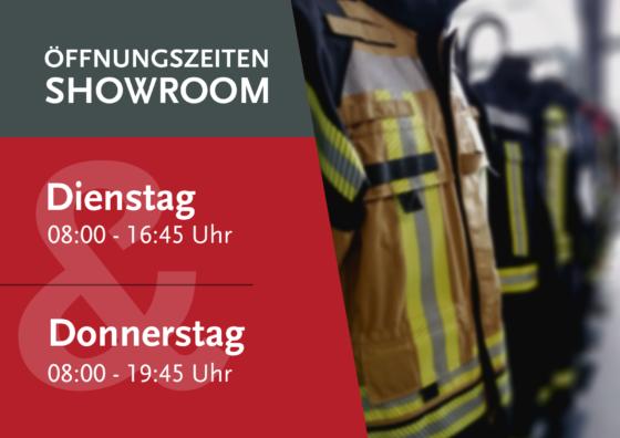 Öffnuingszeiten Showroom für Feuerwehrausstattung in Neuwied